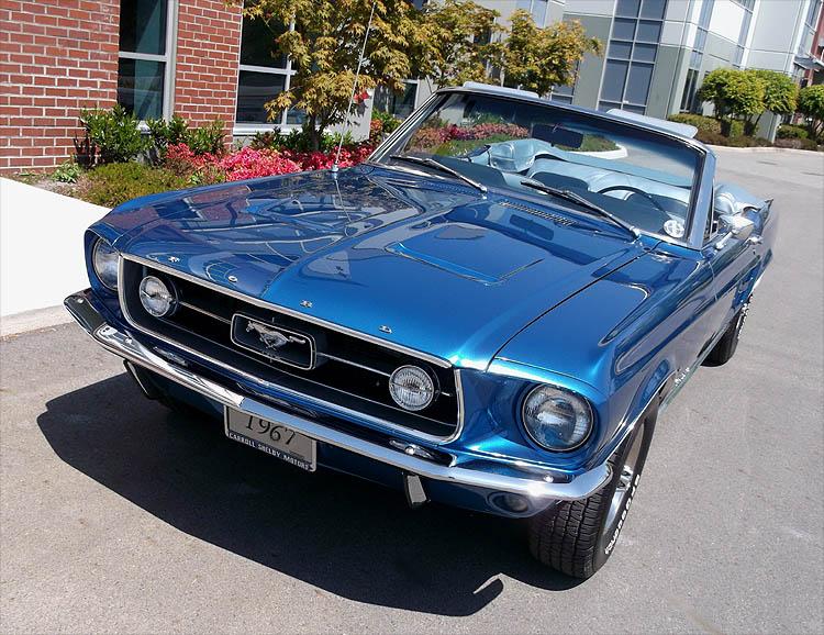 1967 Blue Mustang convertible Kaml